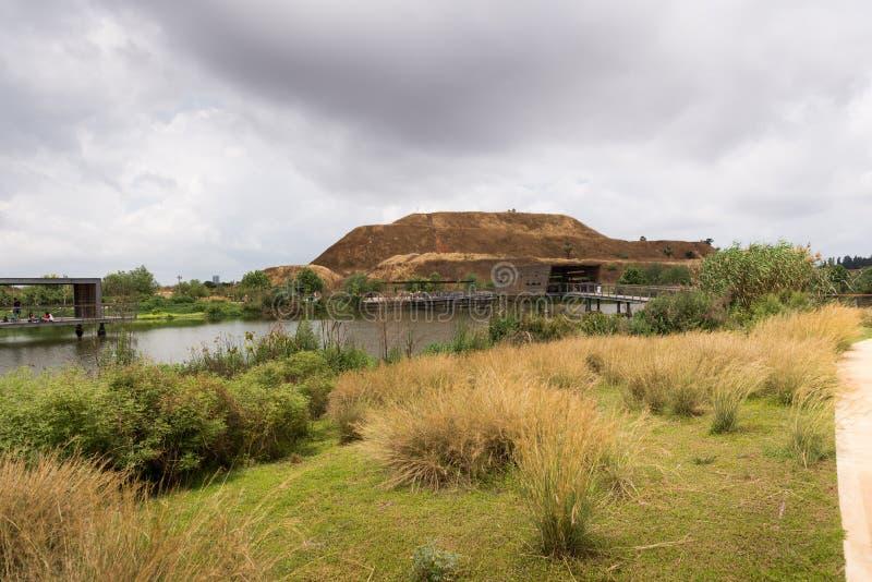 在煤斗haSharon公园,莎朗地区 库存照片