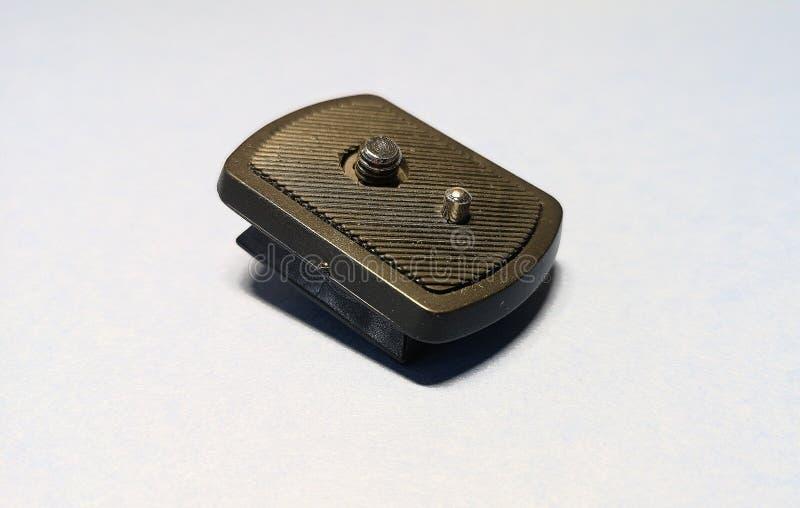 在照相机三脚架的安装垫片 免版税库存图片
