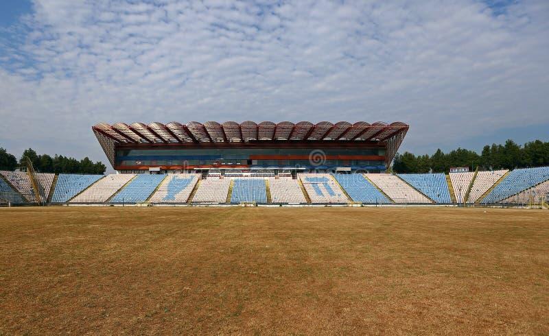 在爆破前的STEAUA布加勒斯特体育场 图库摄影