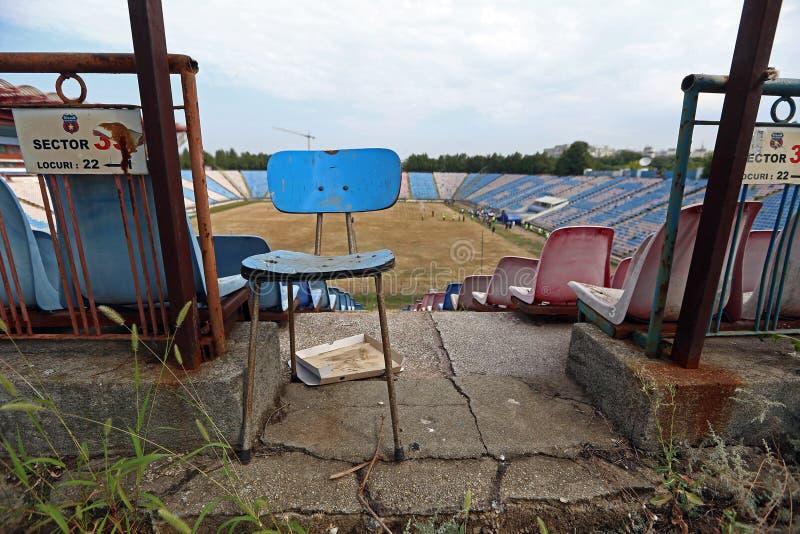 在爆破前的STEAUA布加勒斯特体育场 免版税库存图片