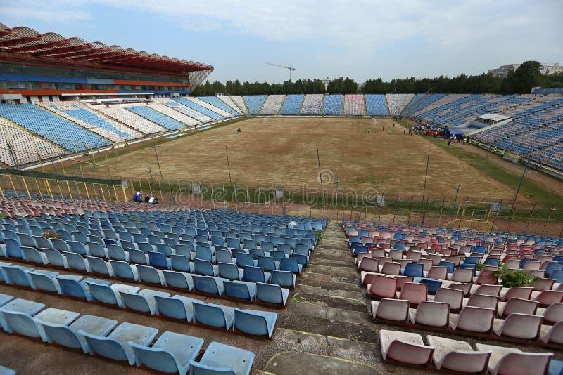 在爆破前的STEAUA布加勒斯特体育场 免版税库存照片