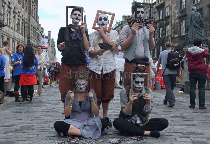 在爱丁堡附加费用节日期间的执行者 免版税库存照片