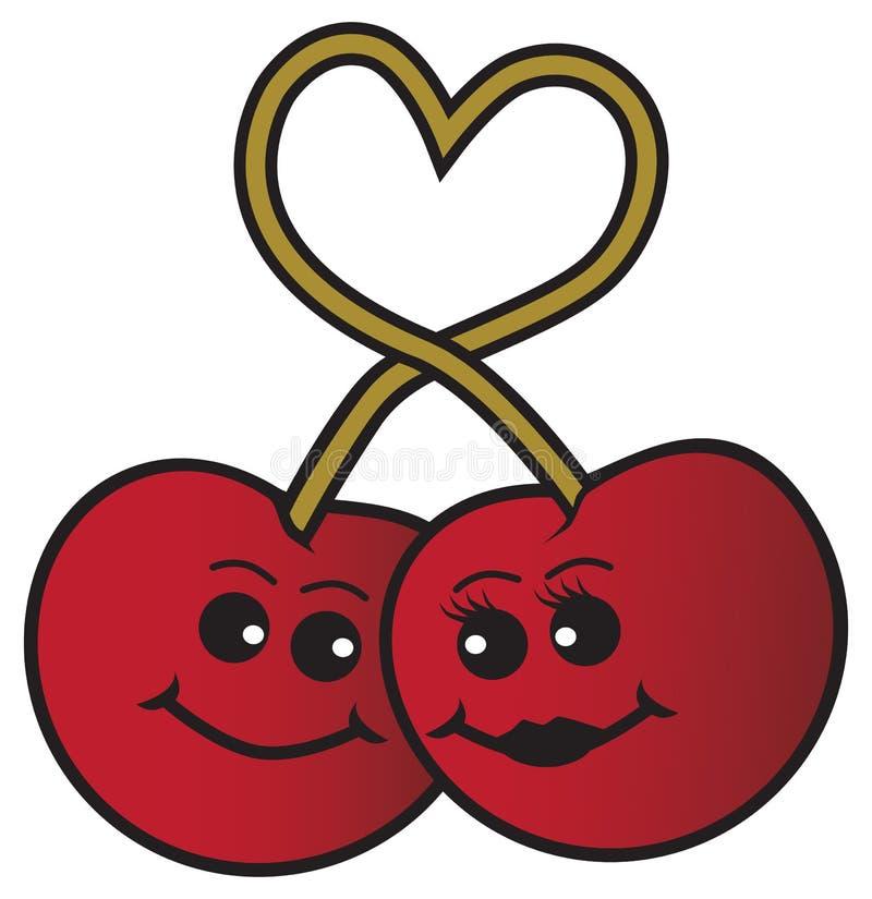 在爱的动画片樱桃 向量例证