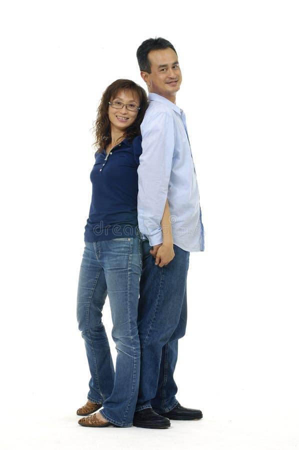 在爱的夫妇 库存照片