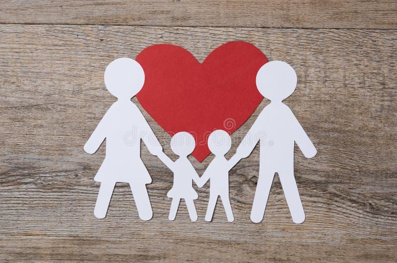 在爱的家庭 免版税图库摄影