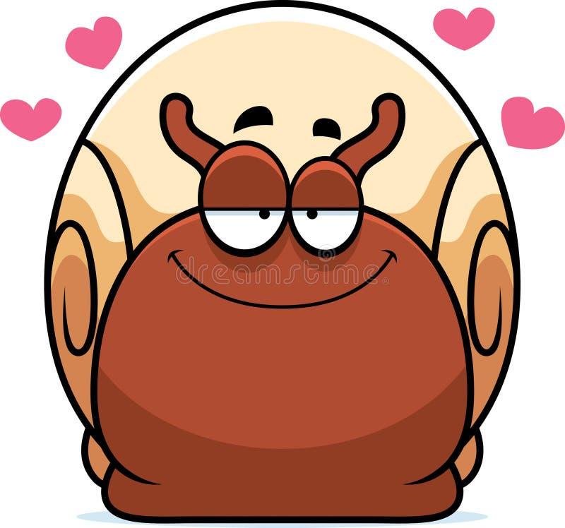 在爱的小的蜗牛 向量例证
