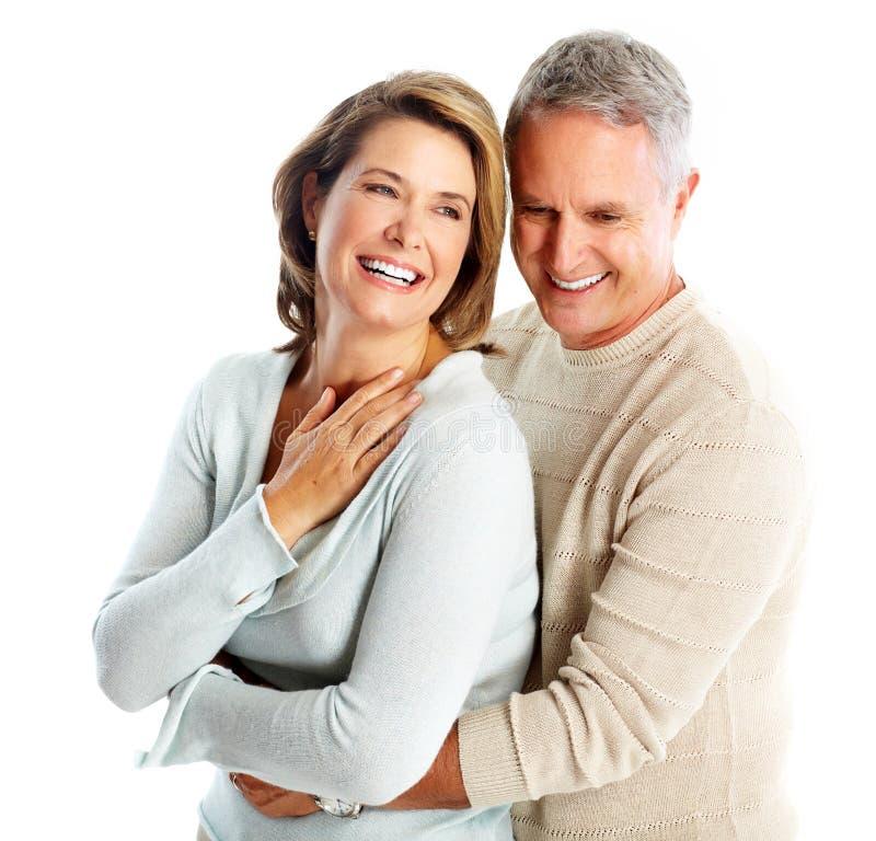 在爱的愉快的资深夫妇。 库存图片