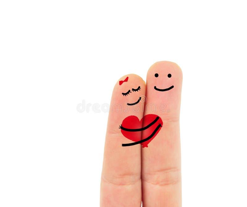 在爱的手指 免版税库存图片