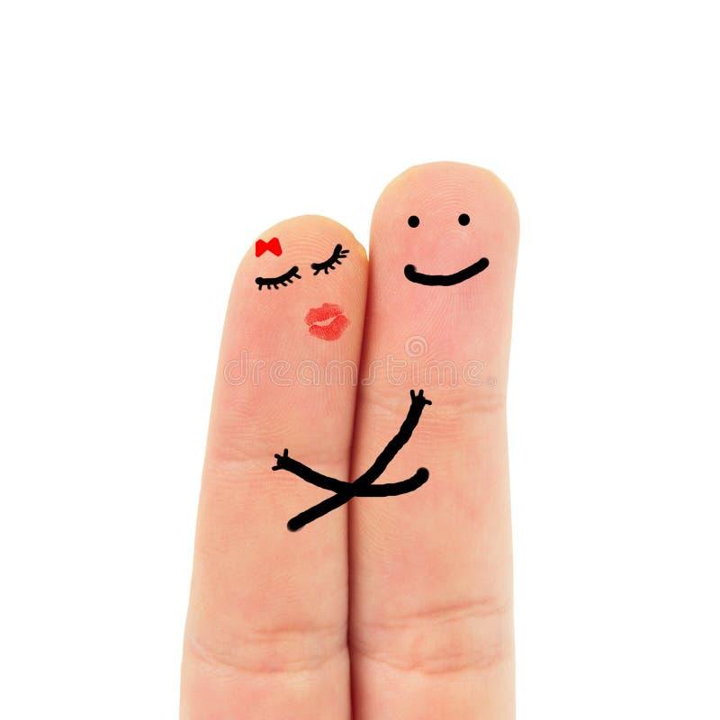 在爱的手指 库存照片