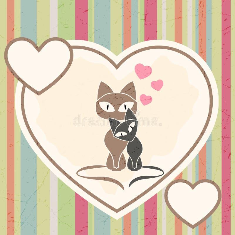 在爱的猫 库存例证