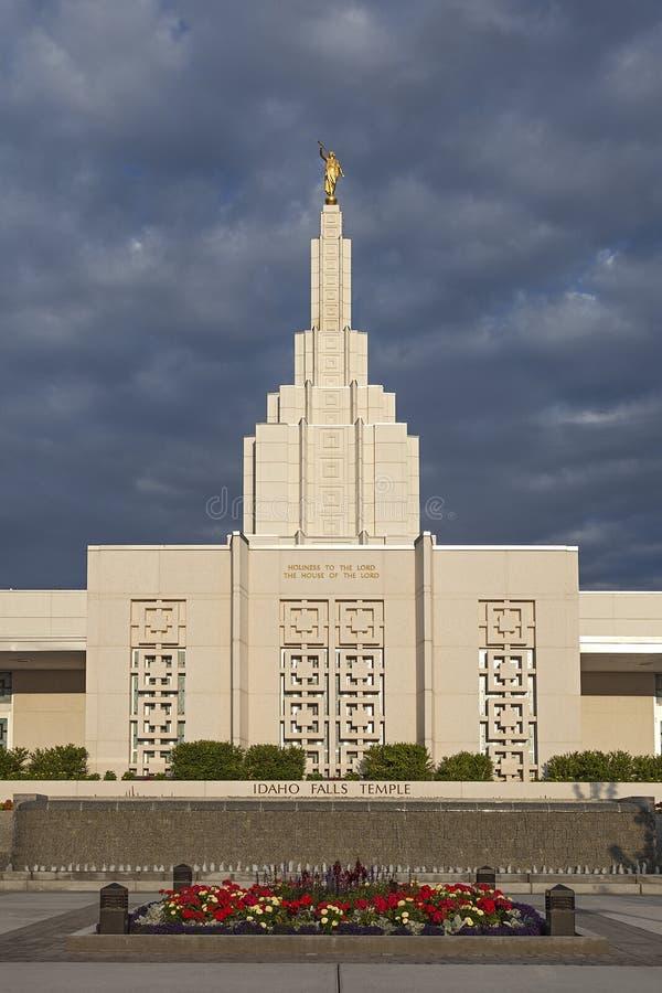 在爱达荷秋天的摩门教堂, ID 免版税库存图片