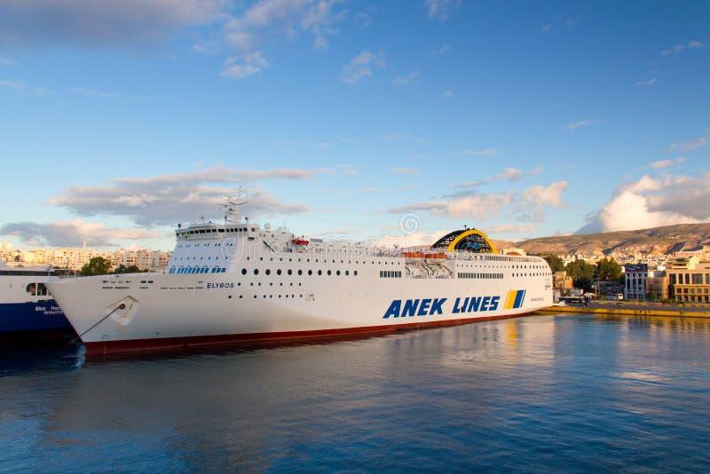 在爱琴海的船坞 库存图片