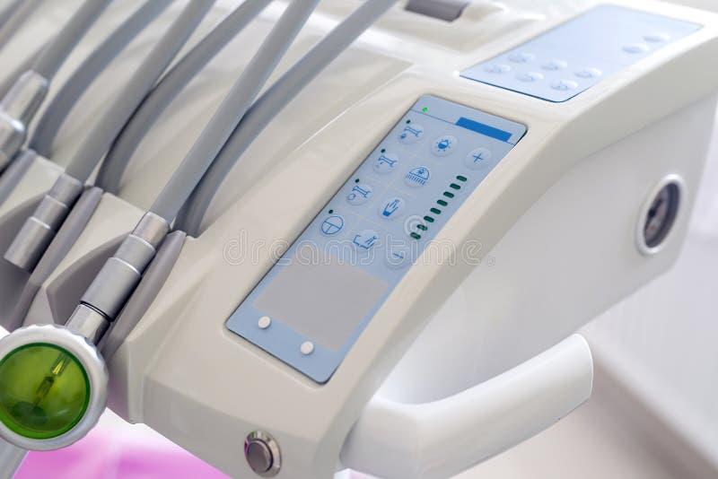 在牙医的诊所的Stomatological仪器 库存照片