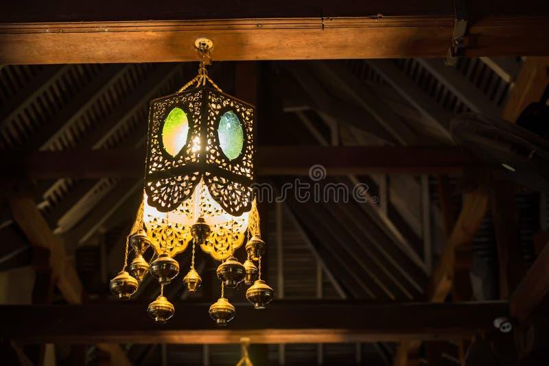 在牙里面寺庙的光在康提,斯里兰卡 库存照片