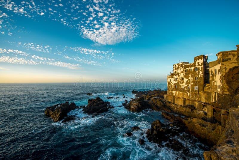 在特内里费岛海岛上的蓬塔Brava镇 免版税库存照片