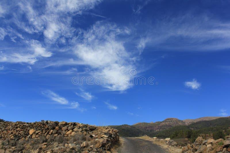 在特内里费岛的天空 库存照片