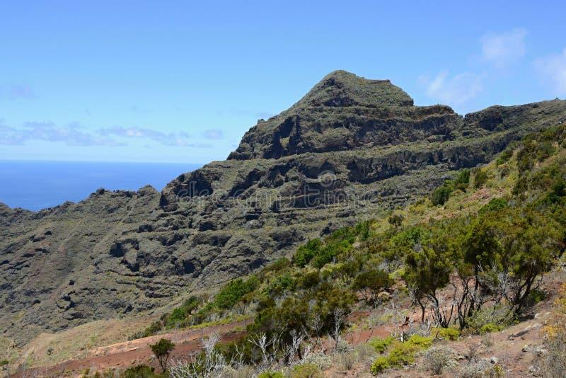 在特内里费岛,加那利群岛,西班牙,欧洲的山脉 库存图片