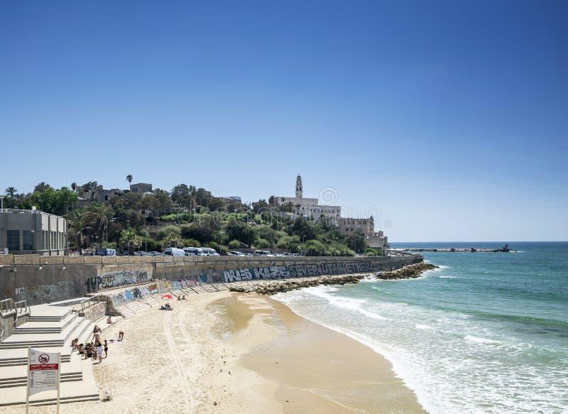 在特拉唯夫靠岸以色列贾法角yafo老镇  免版税库存图片