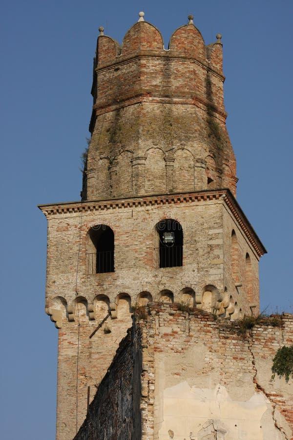 在特雷维索省的古老城堡  库存照片