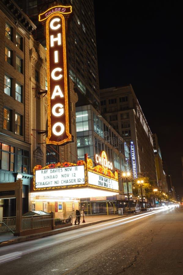 在状态街道上的著名芝加哥剧院2011 10月4日i 免版税库存照片