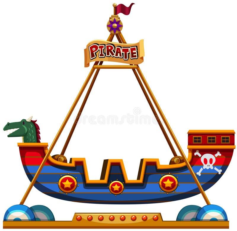 在狂欢节的北欧海盗乘驾 库存例证