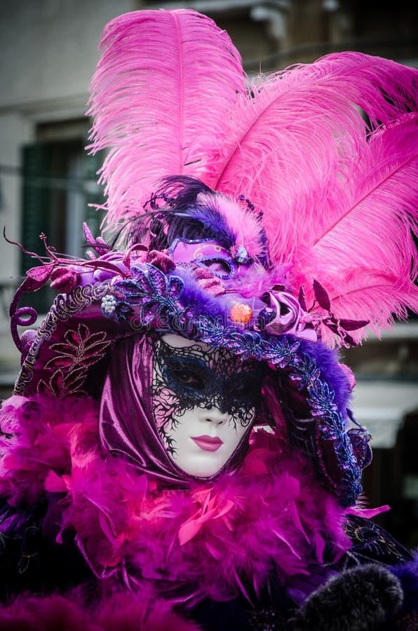 在狂欢节的威尼斯式面具 免版税库存照片