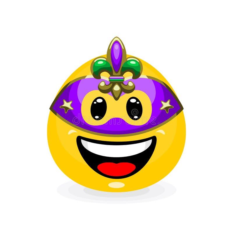 在狂欢节面具的逗人喜爱的意思号 皇族释放例证