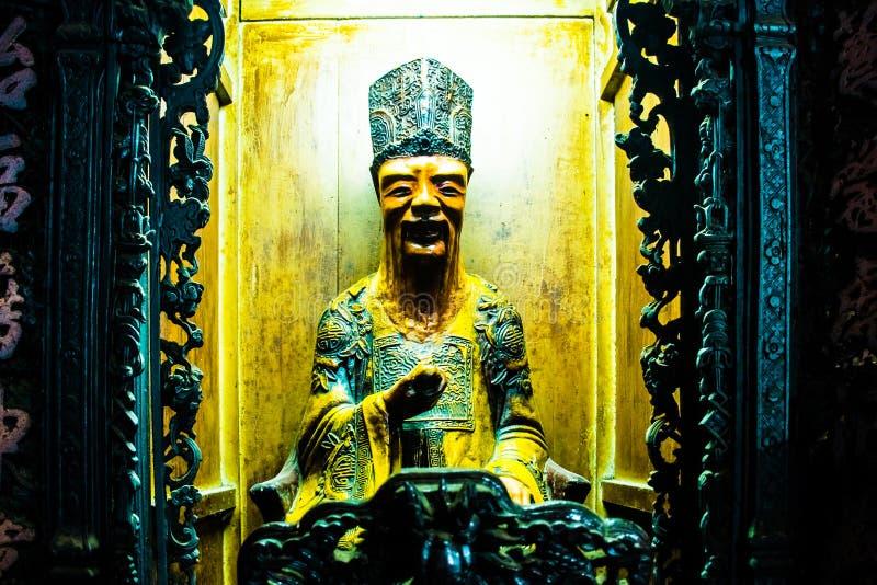 在玉皇大帝塔,胡志明市,越南的雕象 免版税库存图片