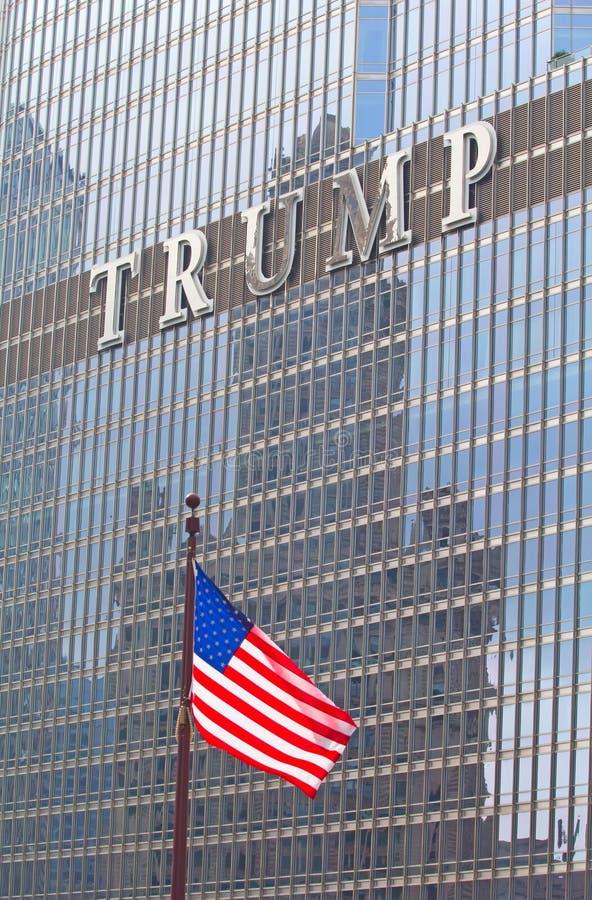 在王牌塔的商标在芝加哥 免版税图库摄影