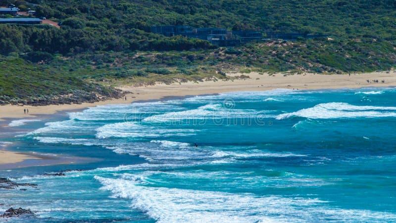 在玛格丽特河附近的美好的海岸线在澳大利亚西部 图库摄影