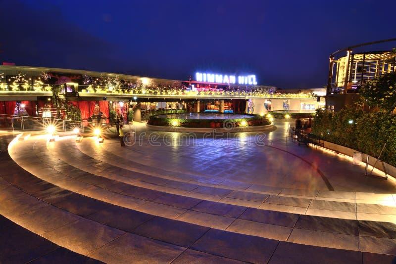 在玛雅人大厦的Nimman小山咖啡馆美丽的餐馆 图库摄影