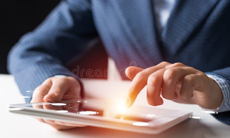 在现代事务的数字技术 图库摄影