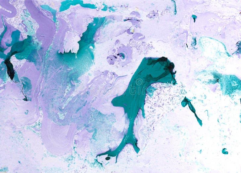 在现代艺术样式的抽象大理石手画背景与流动流动墨水和丙烯酸酯的绘画技术 库存例证
