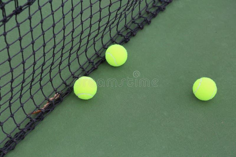 在现场的网球 图库摄影