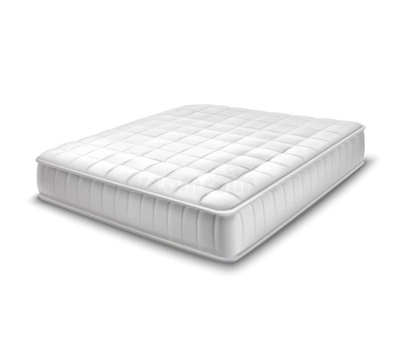 在现实样式的双重床垫 向量例证