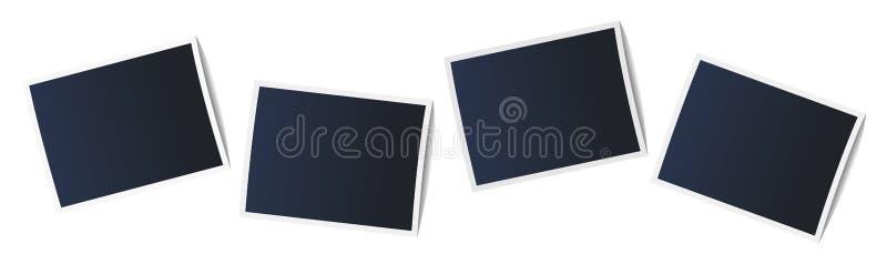 在现实样式的相框在白色背景 向量例证