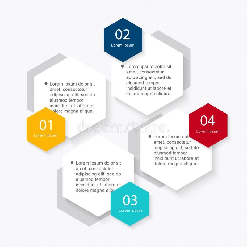 在现代平的企业样式的Infographic元素 皇族释放例证
