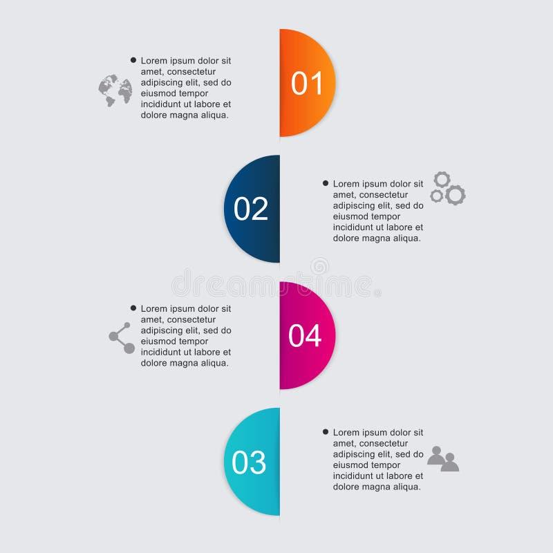 在现代平的企业样式的infographics元素 能使用 库存例证