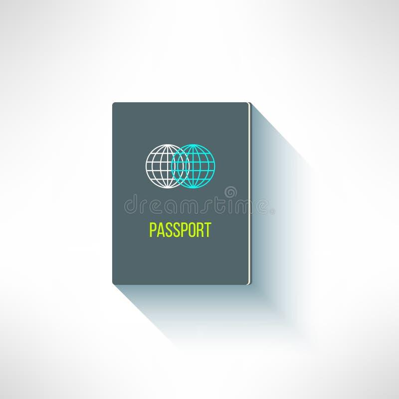 在现代平的设计的传染媒介护照 公民 皇族释放例证