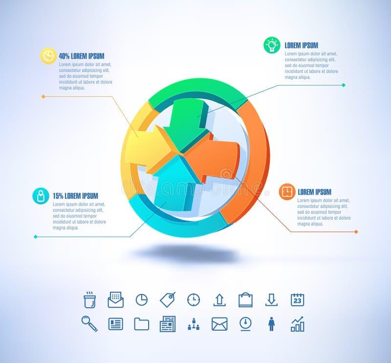 在现代样式的传染媒介模板 对infographic和介绍 库存例证