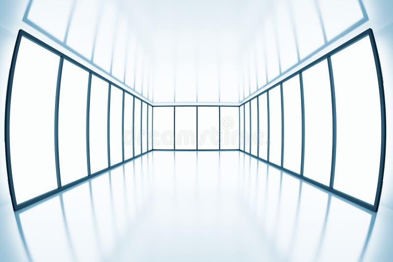 在现代空的室的白点视图 向量例证