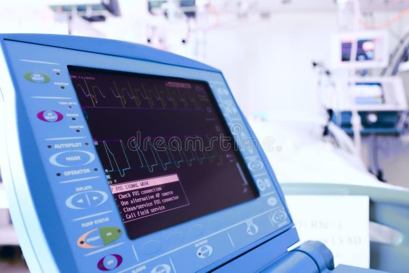 在现代诊所的显示器。 免版税库存照片