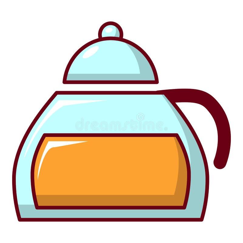 在玻璃瓶子象,动画片样式的蜂蜜 皇族释放例证