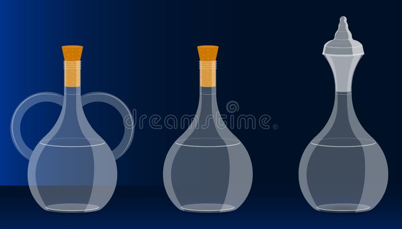在玻璃瓶的自由空间您的饮料促进礼物的 i r 库存例证
