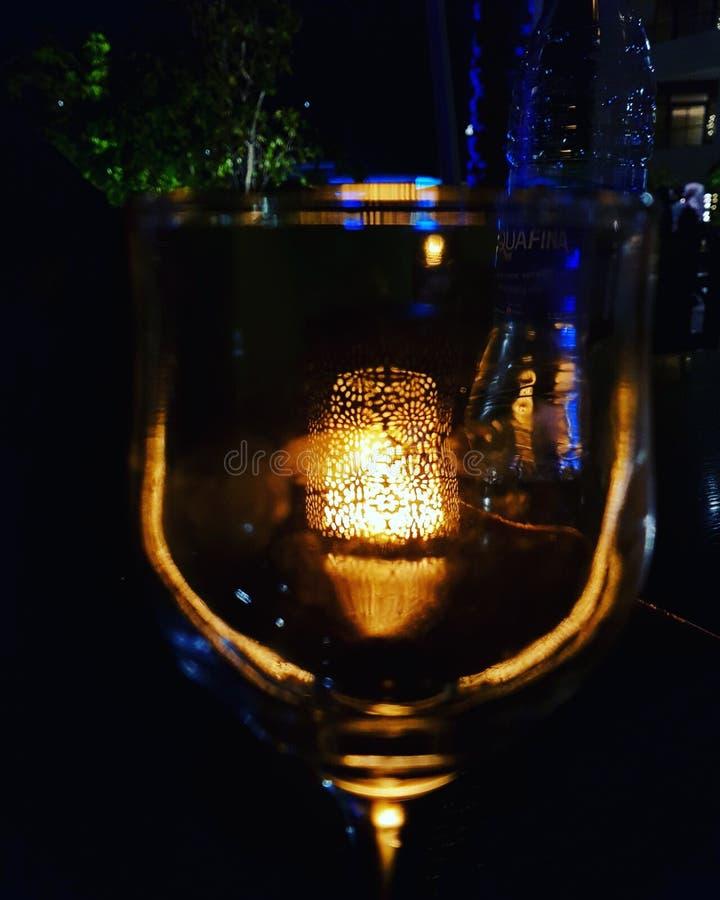 在玻璃的光 库存照片