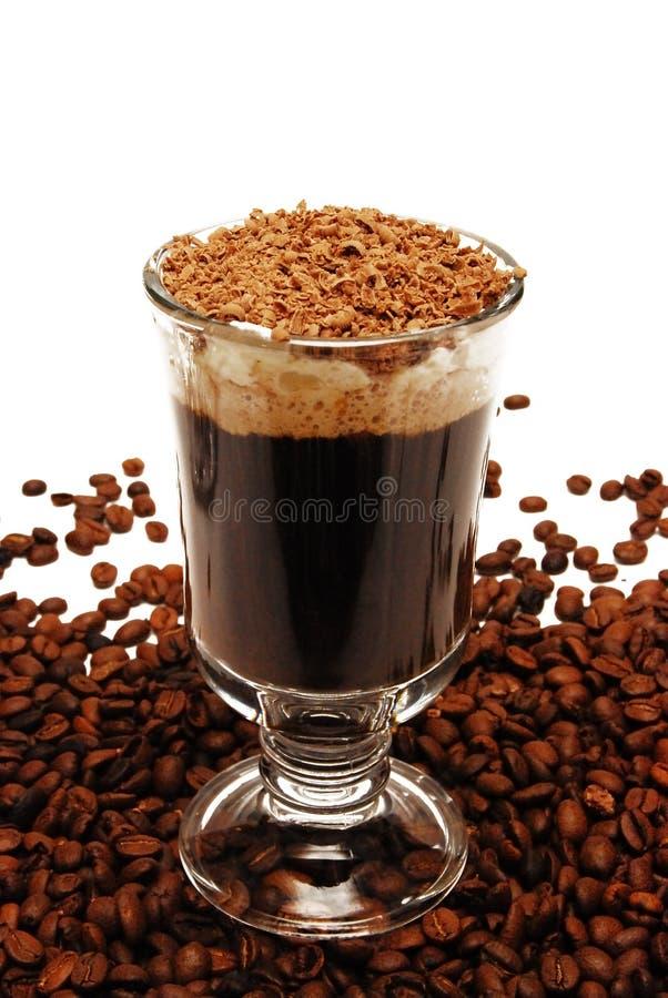 在玻璃的咖啡 库存照片