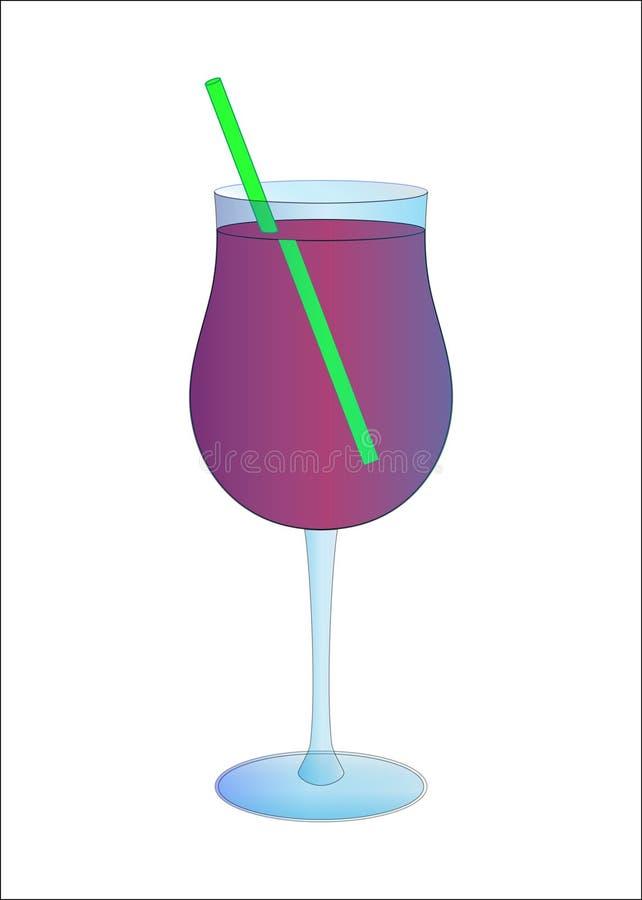 在玻璃的夏天coctail 库存例证