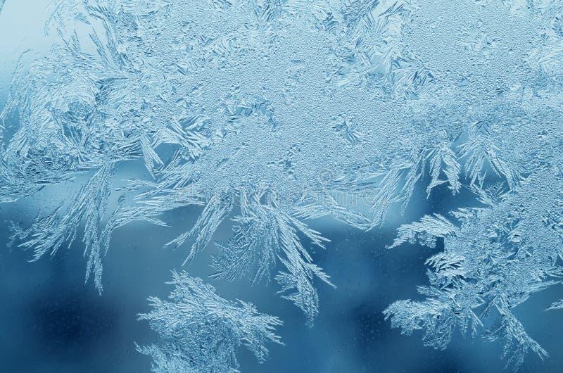 在玻璃的抽象冷淡的样式,背景纹理 库存照片