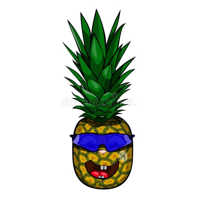 在玻璃的菠萝 免版税库存照片