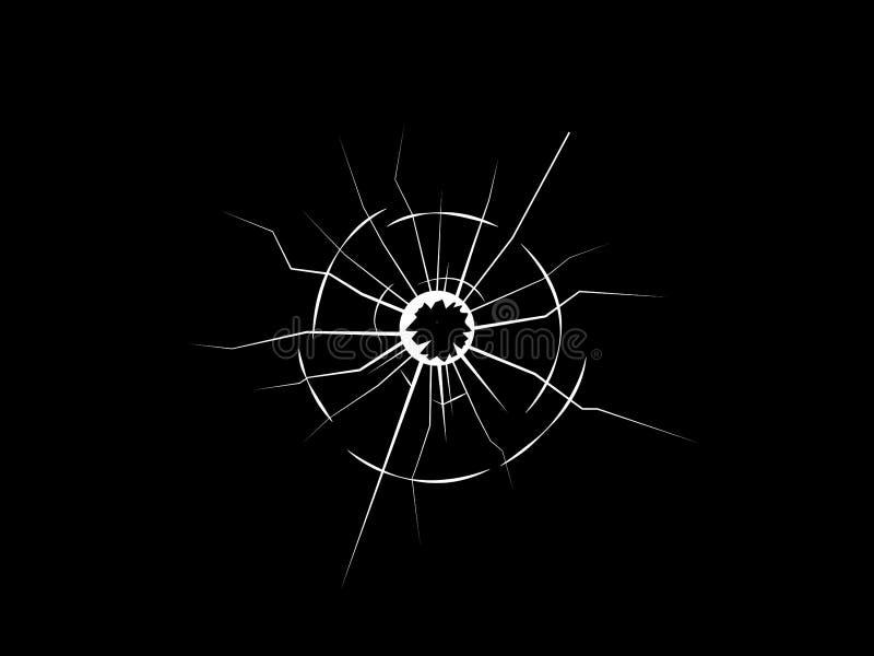 在玻璃vecotr的孔 向量例证